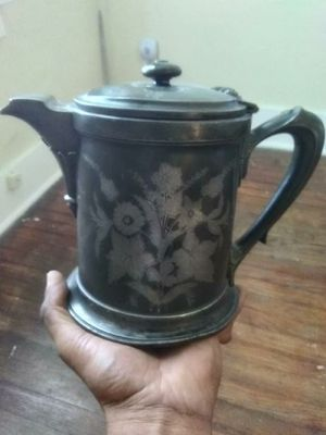 Antique double wall pewter pitcher for Sale in Detroit, MI
