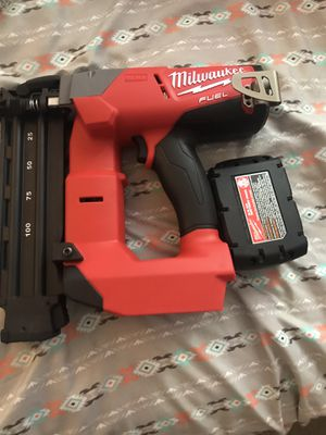 Milwaukee finish nail gun no charger for Sale in Silver Spring, MD