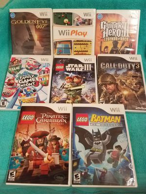 Wii Games, 8 Like New Games. For hours of family fun!! for Sale in Belle Isle, FL