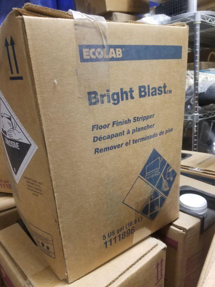 Ecolab bright blast floor stripper cleaner