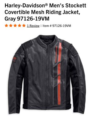 Photo Harley-Davidson® Men's Stockett Covertible Mesh Riding Jacket. Large, 97126-19VM. (NEW)