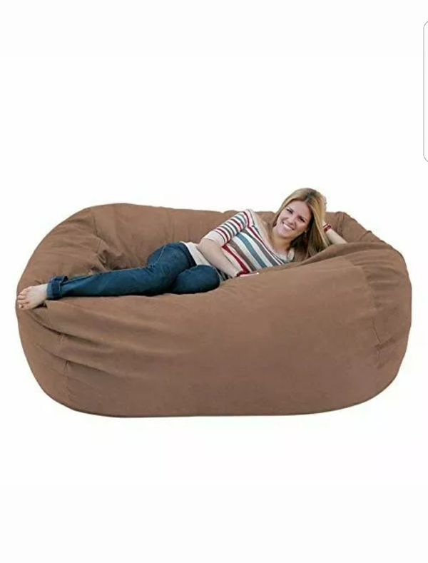 Astonishing Large Cozy Sack 5 Feet Bean Bag Chair Made In Usa For Ncnpc Chair Design For Home Ncnpcorg