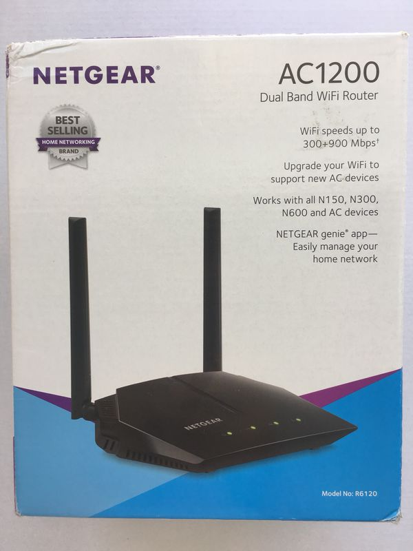 NETGEAR AC1200 Dual Band Smart WiFi Router, Fast Ethernet (R6120) for Sale  in Lake Worth, FL - OfferUp