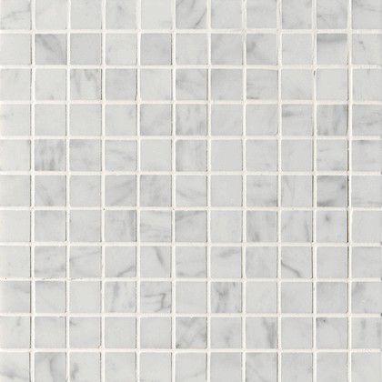 "Carrara (Carrera) Bianco Square 1x1"" Honed Marble Mosaic Tile"