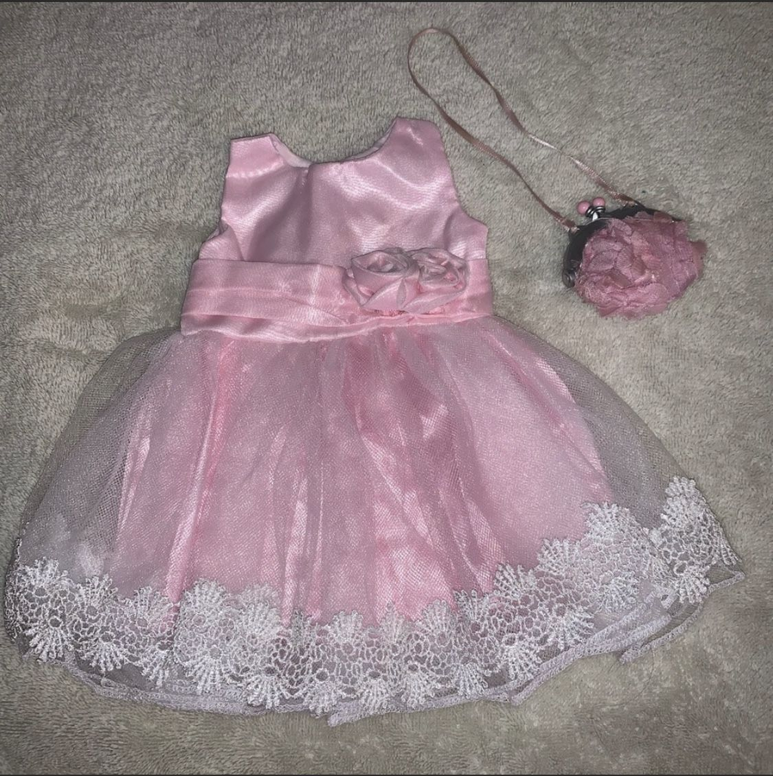 Doll wedding dress set
