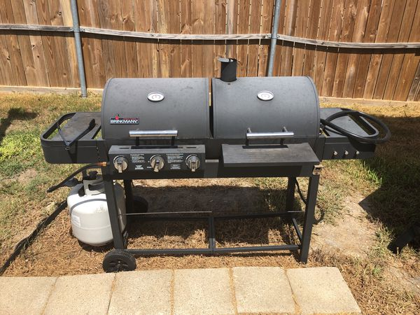 Brinkmann Combination Gas Charcoal Grill And Smoker