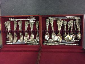 Vintage Godinger silverware 70 plus pieces for Sale in Fairfax, VA