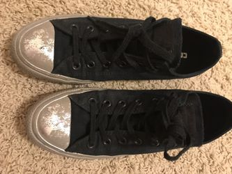 Black Converse with silver rubber Thumbnail