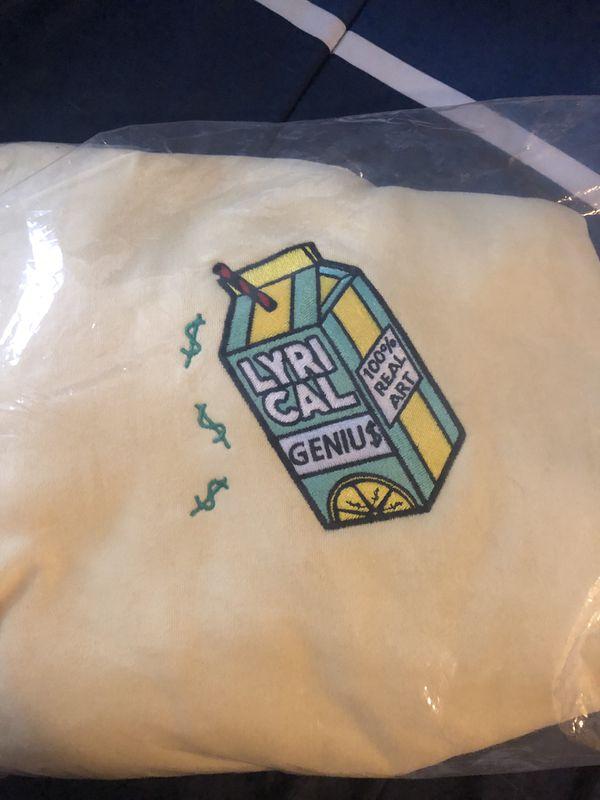Lyrical Lemonade Genius Collab Yellow Hoodie Medium for Sale in Pittsburgh,  PA - OfferUp
