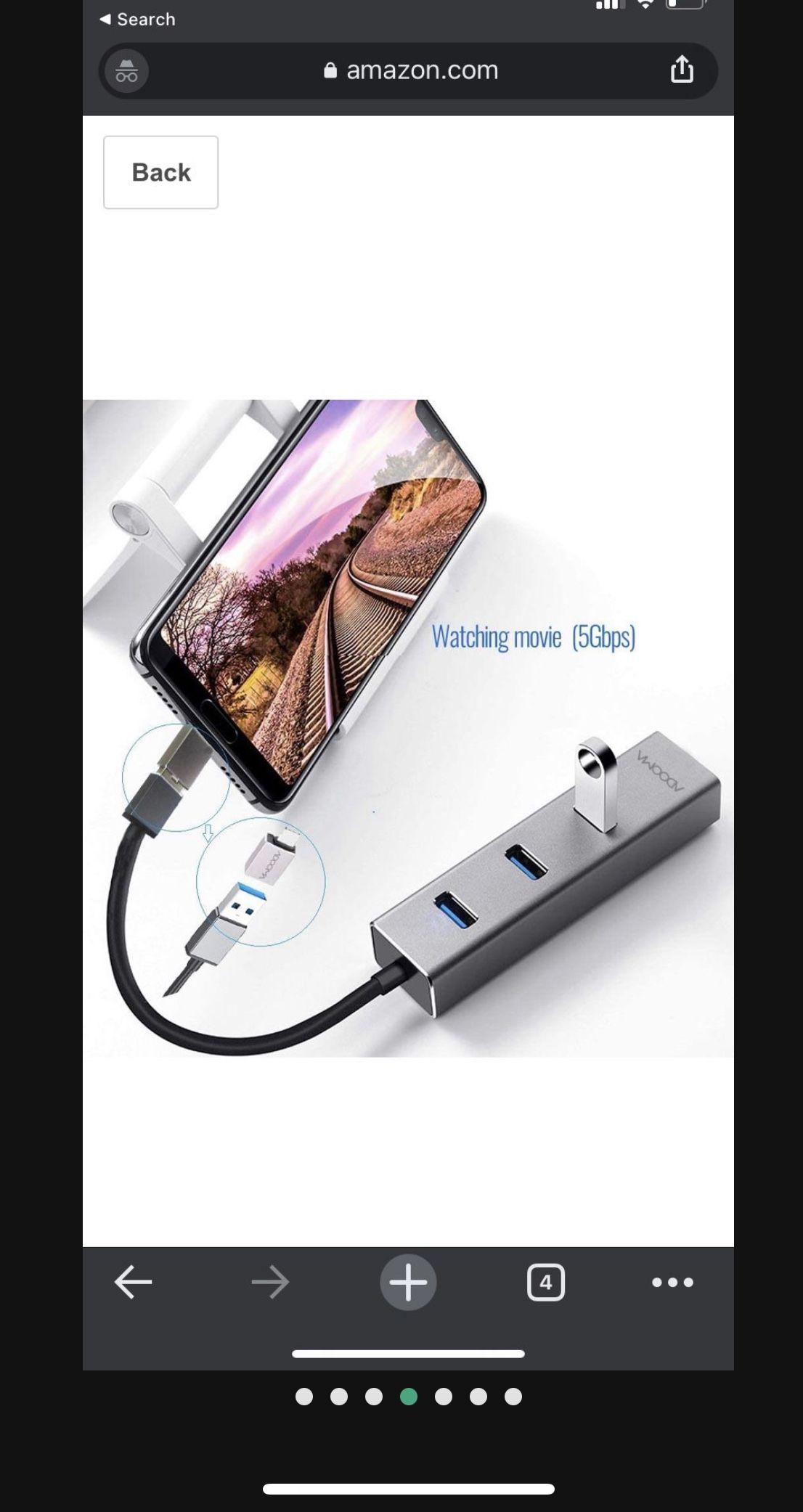 USB 3.0 Hub to Ethernet RJ45 LAN Adapter,ADOOMA Gigabit 1000Mbps USB C Ethernet Adapter for Chromebook,Tablets and Phones Grey