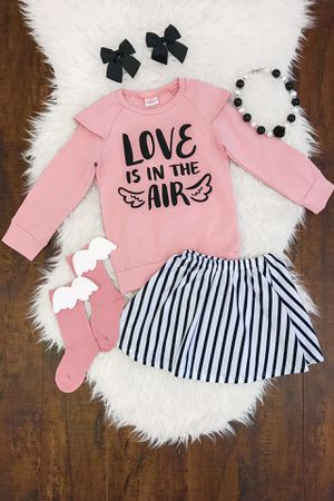 Love is in the air striped skirt set for Sale in San Antonio, TX