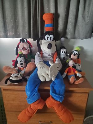 Photo Disney goofy lot of 7 plush new toy Folkmanis 37 inch tall exclusive puppet