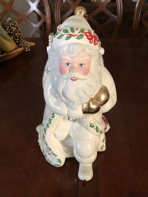 """Lenox 1999 """"Santa Skates to New Millennium"""" Holiday Cookie Jar for Sale in Casselberry, FL"""