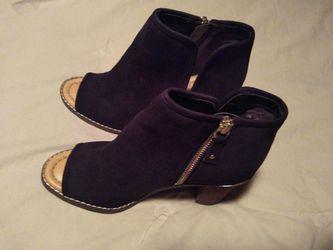 Women's open toe ankle boots Thumbnail