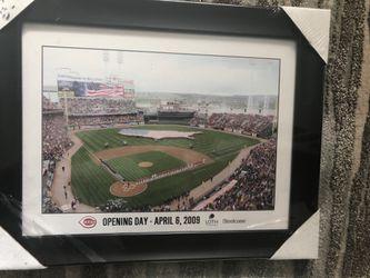 Cincinnati Reds Opening Day - April 6, 2009 Framed Photo Thumbnail