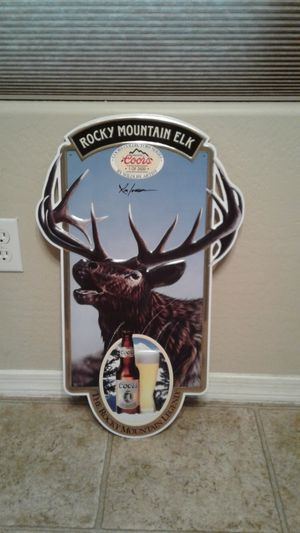 Metal Rocky Mountain Elk Coors sign for Sale in Peoria, AZ