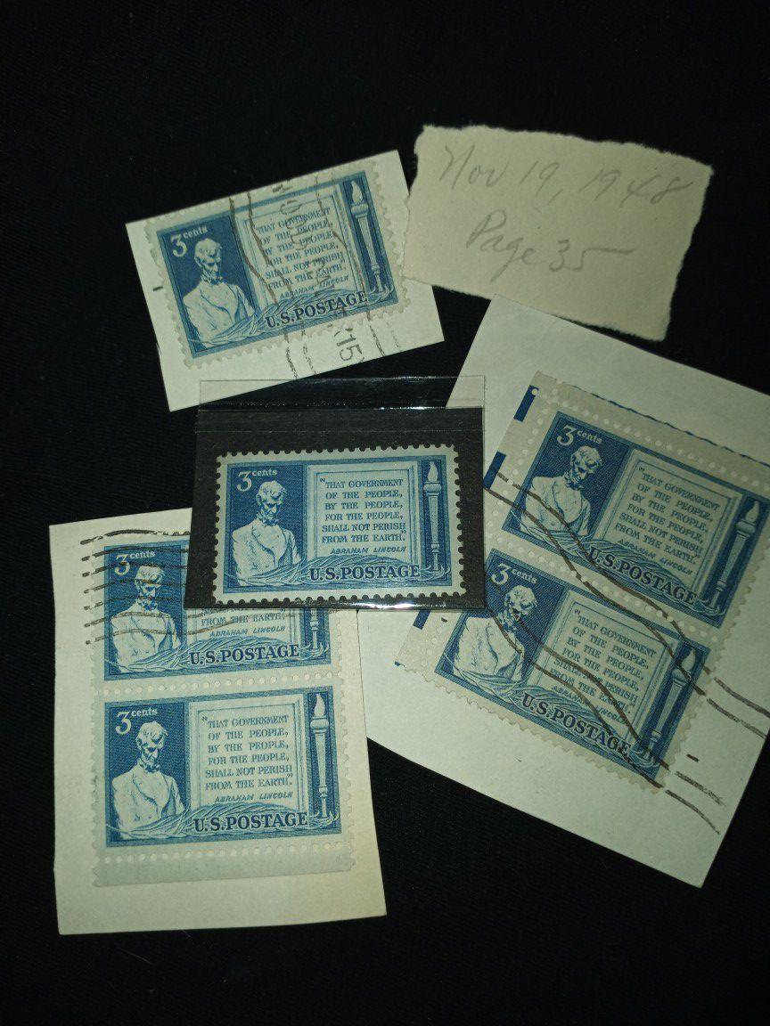 Lincoln Gettysburg Address 3c stamp