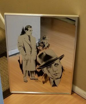 Vintage Rare Silver Framed Humphrey Bogart Picture Mirror for Sale in Dale City, VA