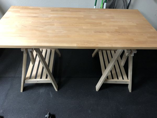 Ikea Table Gerton Top And Finnvard Legs