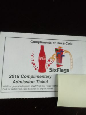 Four six flags tickets for Sale in Hammond, IN