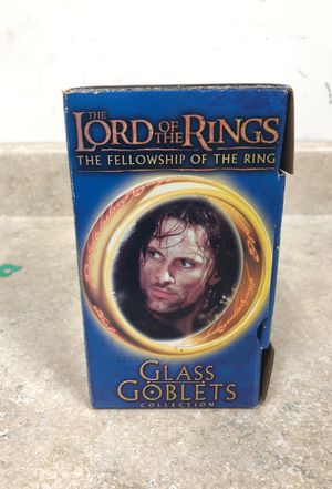 Lord of the Rings glass Goblets collection for Sale in Cicero, IL