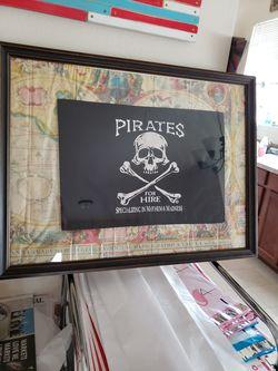 Framed Pirate Flag Thumbnail