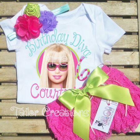 Barbie Personalized Birthday T Shirt Outfit Set Ladybug Rapunzel Doc McStuffins
