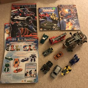Transformers toys and novel books for Sale in Silver Spring, MD