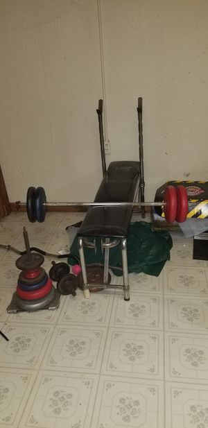 Weight bench and weights for Sale in Trenton, MI