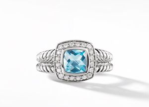 David Yurman ring size 7 Blue Topaz for Sale in Brambleton, VA