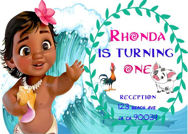 Moana Invitations For Sale In Los Angeles Ca Offerup