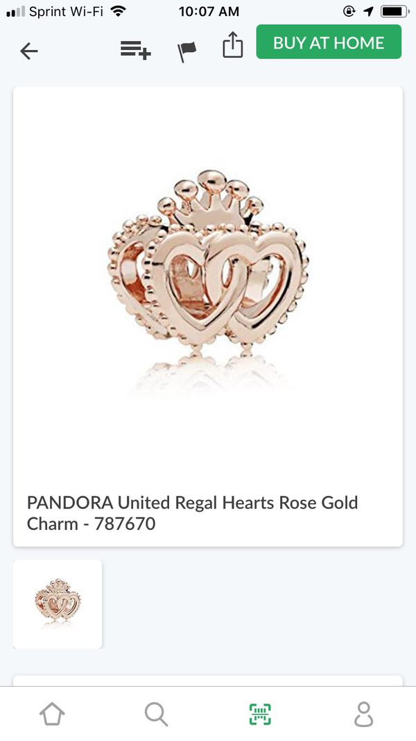 deddec3c5 PANDORA CHARM UNITED HEART (rose gold) for Sale in Fort Worth, TX ...