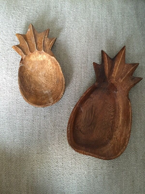Pair Of Vintage Wooden Pineapple Trays For Sale In San Diego Ca Offerup