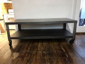 Industrial coffee table - metal for Sale in Washington, DC