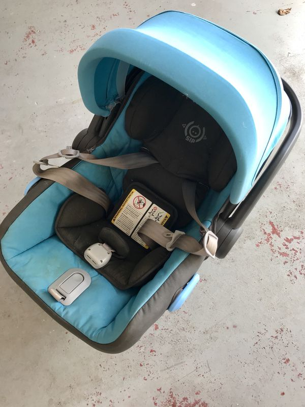 Uppa Baby Mesa Infant Car Seat In Blue And Black With Base Kids Boca Raton FL