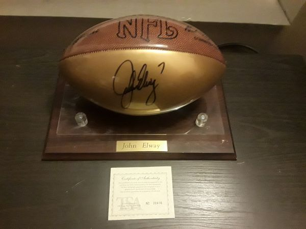 5181e89d4 Vintage John Elway Autographed football with COA for Sale in ...