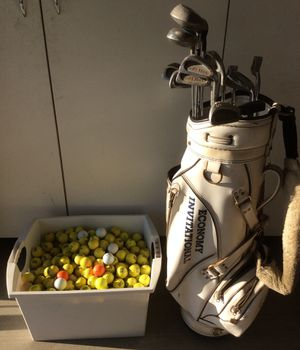 Golf clubs and bag with over 300 balls. 12 clubs and putter. for Sale in Kingsburg, CA