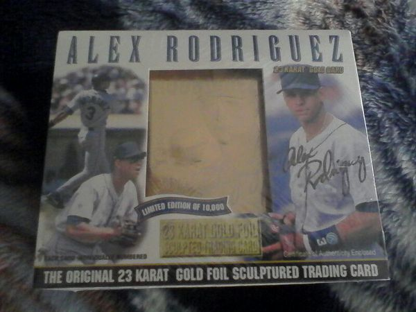 Alex Rodriguez Bleachers 23 Karat Gold Foil Sculpted Trading Card For Sale In Tacoma Wa Offerup