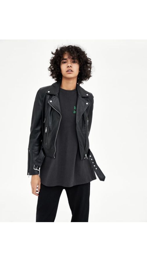 45247703a Zara TRF Real Leather Biker Jacket for Sale in Los Angeles, CA - OfferUp