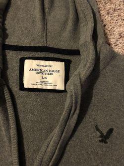 Large American Eagle Hooded Long Sleeve Shirt Thumbnail