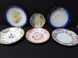 6 antique unmarked China plates for Sale in Cypress, TX