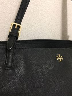 Tory Burch — Large Black, Buckled York Tote DUST BAG INCLUDED Thumbnail