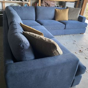 Photo New! Navy sectional, Can Deliver!
