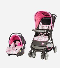Disney baby amble quad travel system Minnie garden delight set Thumbnail