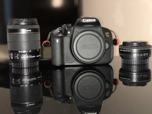 Canon Rebel T5i (with 18-55mm kit lens and 24mm macro lens) for Sale in Fairfax, VA