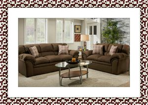 Chocolate Sofa and Love seat with free shipping for Sale in Woodbridge, VA