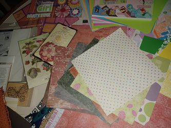 Scrapbooking Stuff In Container  Thumbnail