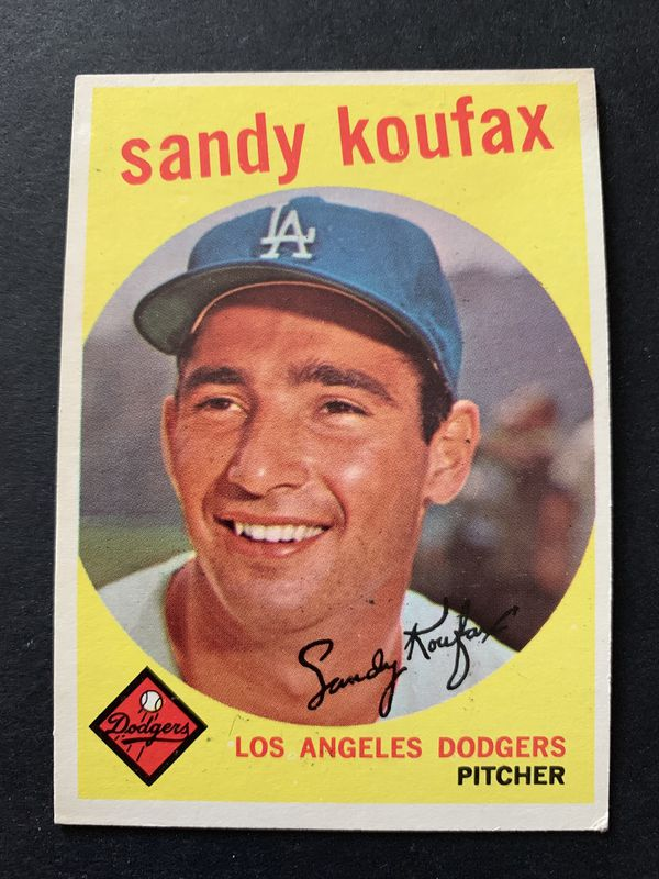 1959 Sandy Koufax Topps Baseball Card 163 Los Angeles Dodgers Original For Sale In Brea Ca Offerup