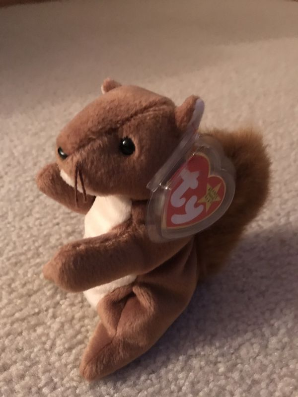 "26cc4f13277 Rare Ty Beanie Babies ""Nuts"" 1996 with Mint Condition and Tag for Sale in  Wichita"