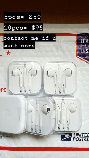 5× Apple iPhone Authentic Earphone 3.5MM for Sale in Lebanon, IL